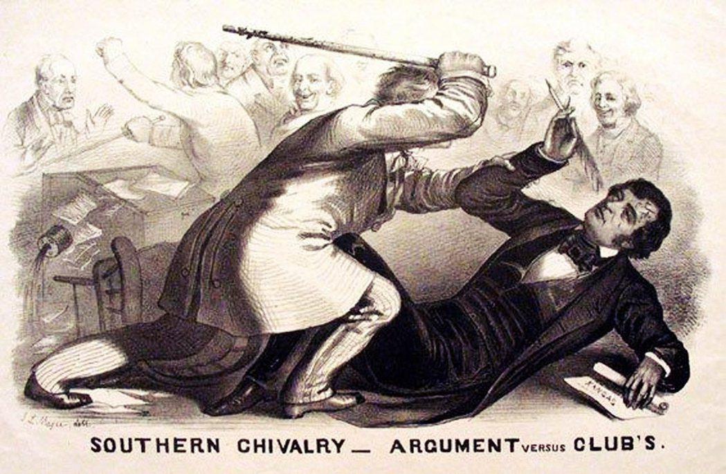 幾乎被打死在國會裡的薩姆納,最終驚險救回一命;至於動手的「流氓議員」布魯克斯,則...