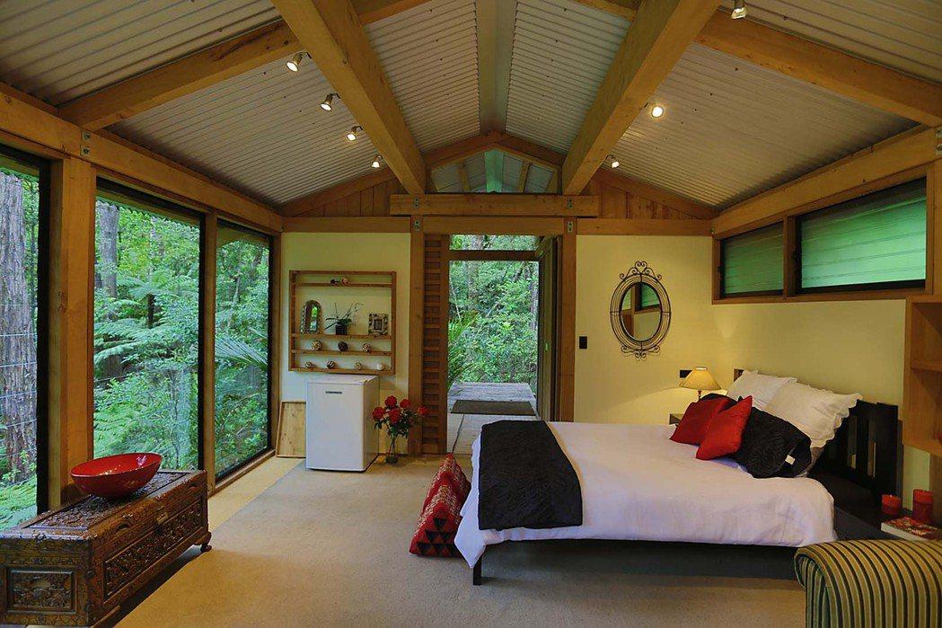 奧克蘭浪漫林間木屋。 Airbnb /提供