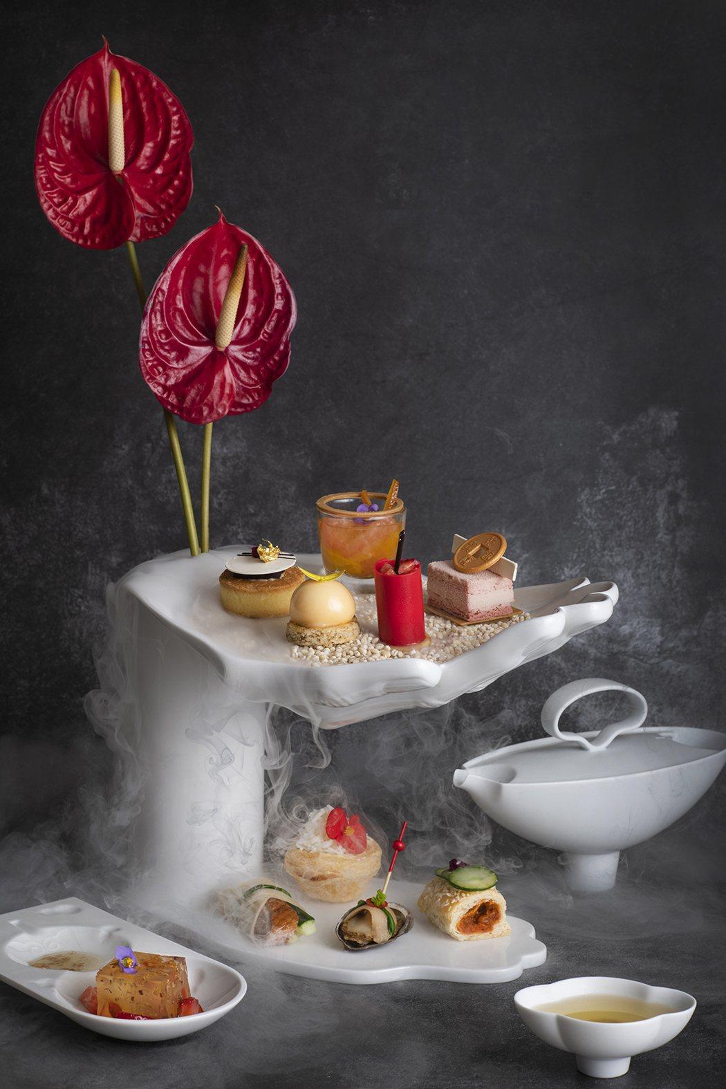 香格里拉台北遠東國際大飯店首度攜手八方新氣於大廳茶軒推出期間限定新氣下午茶。...