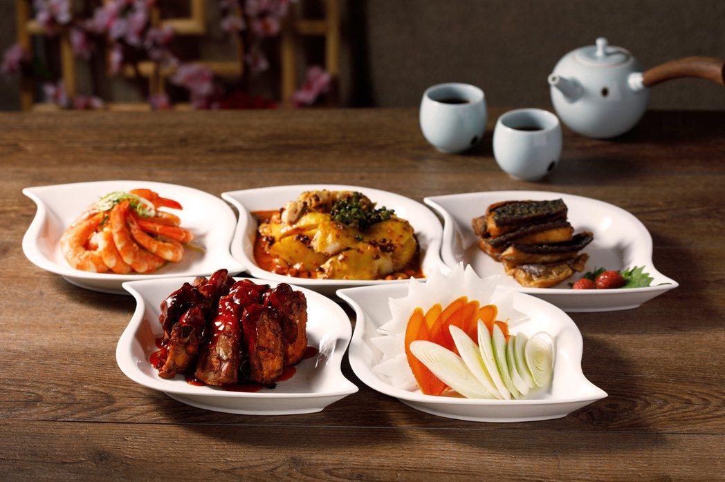 台北新板希爾頓酒店-外帶年菜五福拼盤。