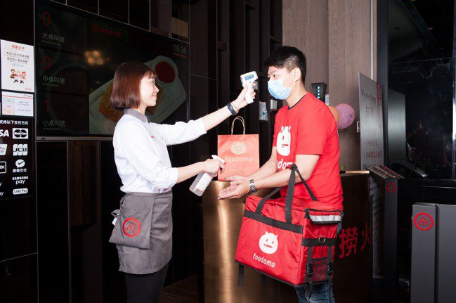 foodomo去年推出「無接觸外送」服務。資料照片