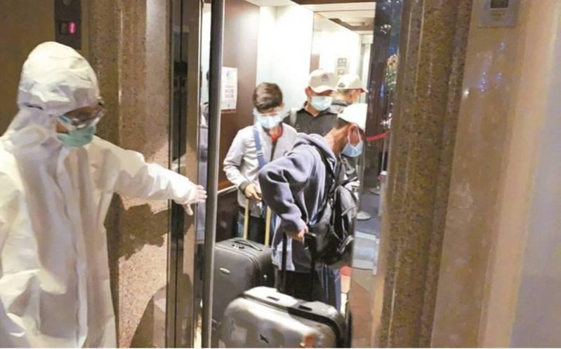 防疫旅館進行消毒作業。圖/報系資料照