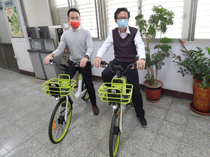 彰化縣公共自行車系統今年改採用Moovo無樁自行車,縣府強調有電子圍籬、GPS定位技術,可避免昔日共享單車之亂。圖/彰化縣城市暨觀光發展處提供