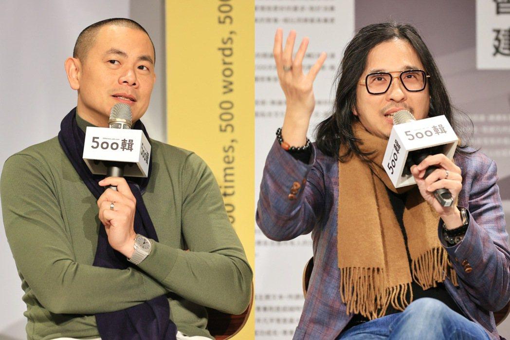 江振誠(右)、葉丙成在「500談」中有精彩對話。圖/林伯東攝影