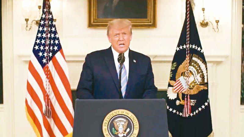 美國總統川普本週煽動支持者抗議,最後演變成支持者硬闖國會大廈造成5人喪命。路透