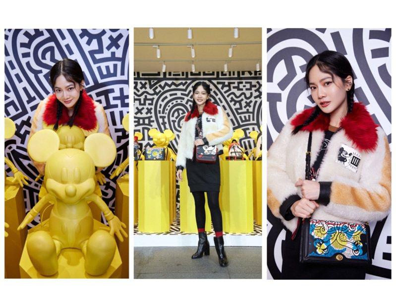曾之喬出席COACH最新Disney Mickey Mouse x Keith Haring限定系列發表。圖/COACH提供