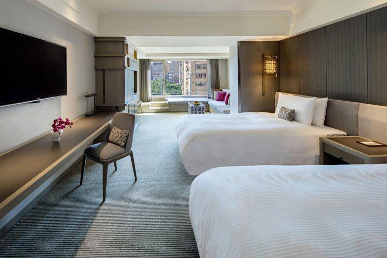 晶華酒店雲天露臺家庭房可入住至多四人。圖/晶華國際酒店集團提供