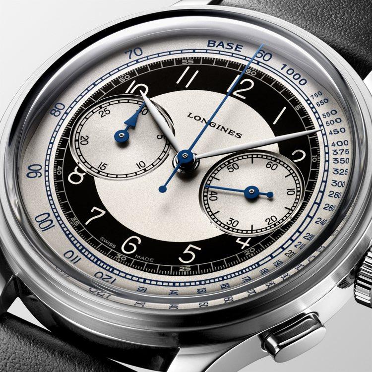計時碼表外圈並具有「測速儀」(Tachymetre),可測量在特定距離內的行進速...