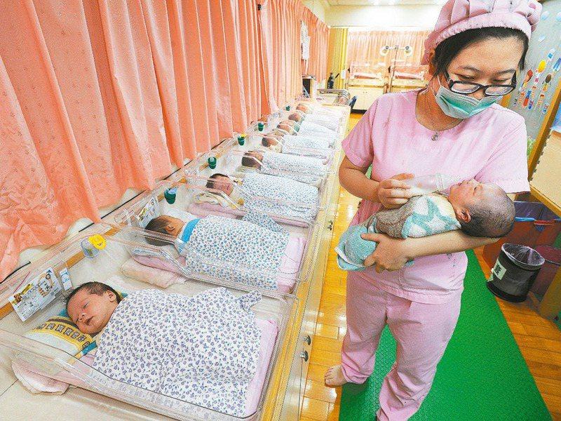 2020年新生兒僅16萬5249人,人口首度負成長。圖/聯合報系資料照片
