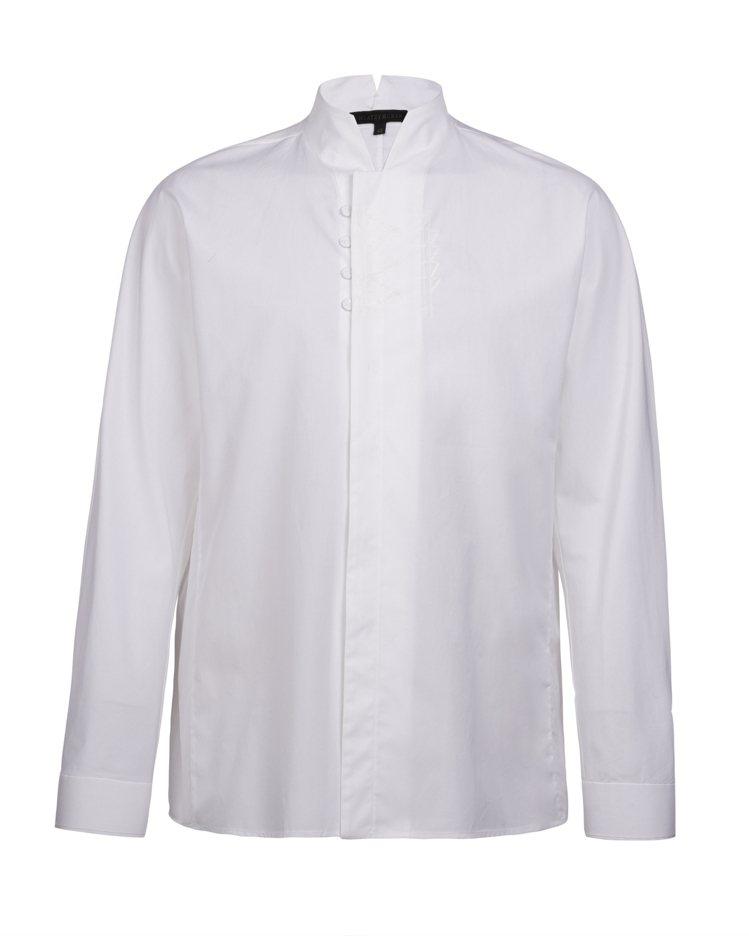 白色立領白襯衫,15,800元。圖/夏姿提供