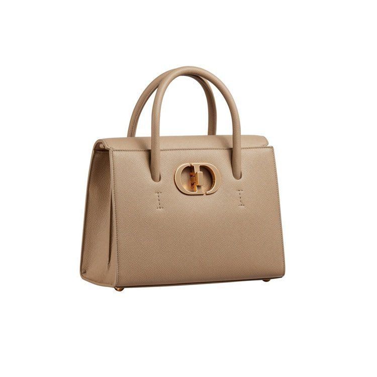 Dior St Honoré米色粒紋小牛皮中型手提包,13萬5,000元。圖/D...