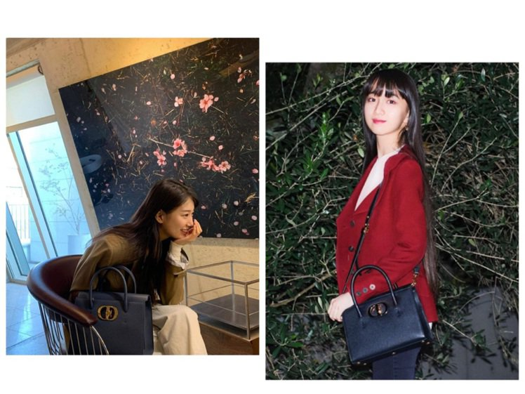 秀智和木村心美詮釋最新Dior St Honoré手袋。圖/取自IG
