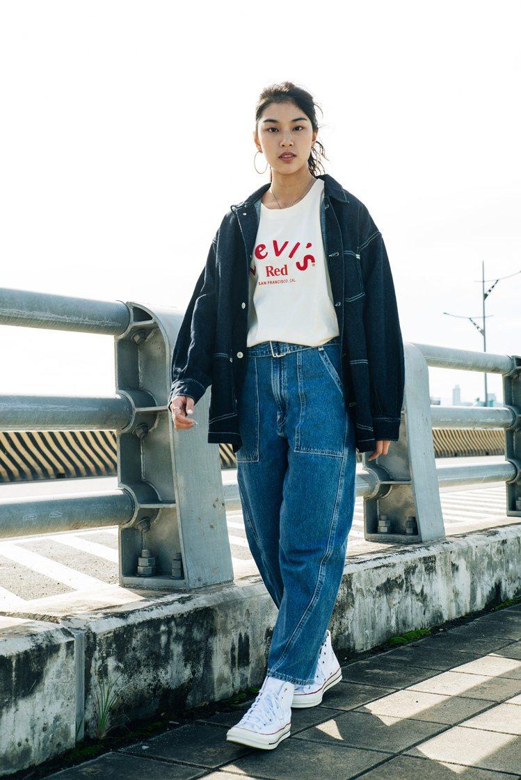 LEVI'S RED Railroad Trousers摩登高腰繭型工作褲6,2...