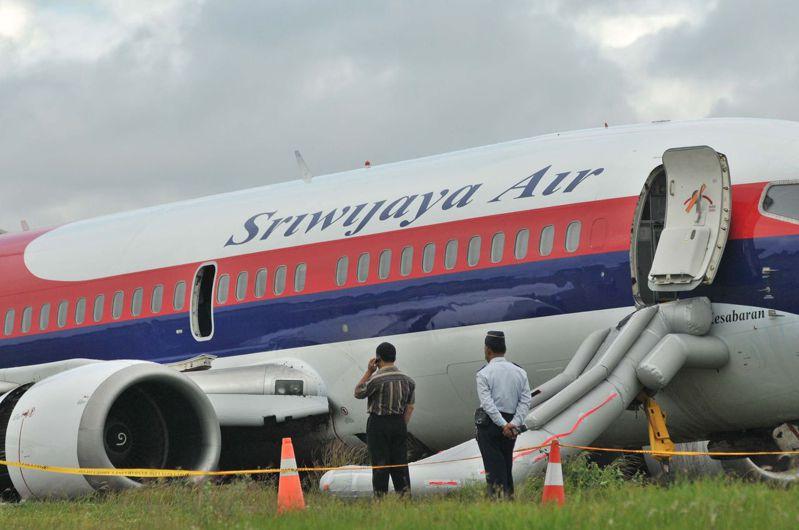 三佛齊航空客機示意圖,非當事客機。(法新社)