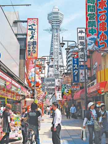 日本開發商鎖定想要申請投資移民者,在大阪市西區推出住商混合案件。 (本報系資料庫...