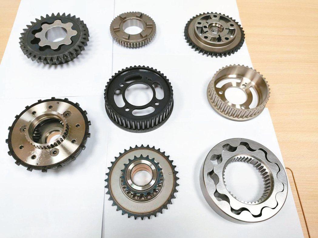 旭宏金屬粉末冶金主力產品。記者張義宮/攝影