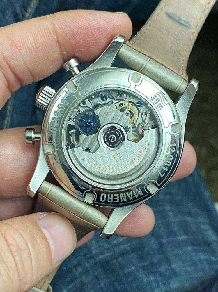 馬利龍飛返計時碼錶搭載精準的CFB 1970機芯,雖然售價平實但決不馬虎。圖/李...