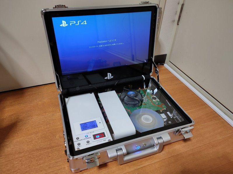 網友自行改裝後,創出令玩家羨慕到流口水的「便攜型PS4」!(twitter@DxTerraria)