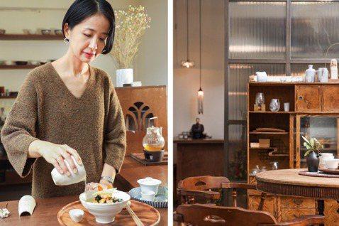 「清山寶珠」是間可以輕鬆喝茶、喝酒,同時也有選物的複合式茶空間。圖/吳致碩攝影...