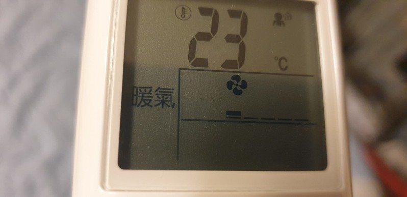 寒流下,開暖氣和電熱器的人增加,用電量也增。記者游振昇/攝影