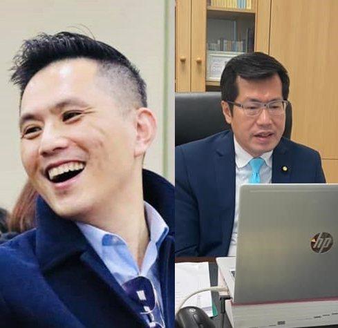 國民黨立委陳以信(左)與民進黨立委羅智政。圖/取自兩人臉書粉專