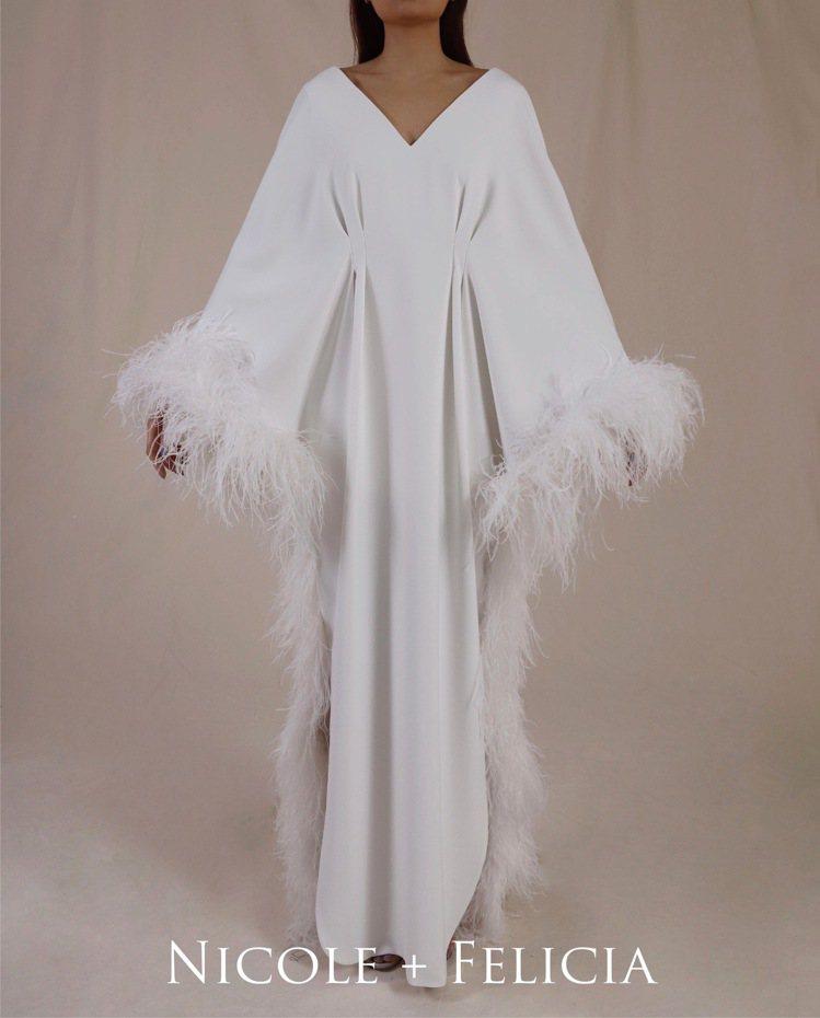 郭碧婷穿的禮服是台灣頂級訂製禮服品牌Nicole + Felicia專為她量身訂...