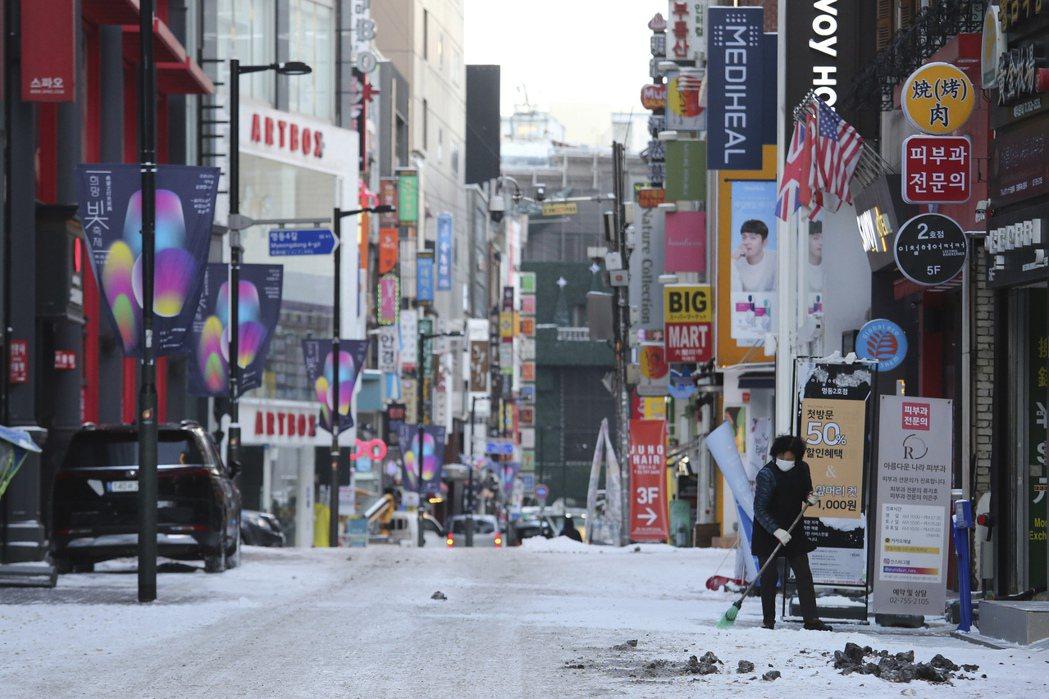 南韓服務業不景氣,拖累國內復甦動能。美聯社