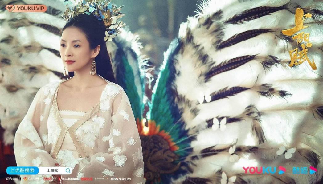 章子怡在「上陽賦」中從15歲少女開始演起。圖/摘自微博