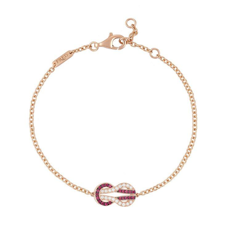 Chance Infinie系列鑽石及紅寶石手鍊,77,200元。圖/斐登提供