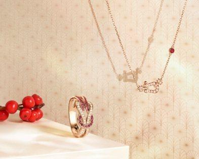 (由左至右)Chance Infinie系列鑽石及紅寶石戒指,15萬0,400元...