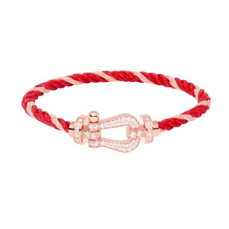Force 10系列大號玫瑰金鑽石手鍊,30萬3,600元。圖/斐登提供