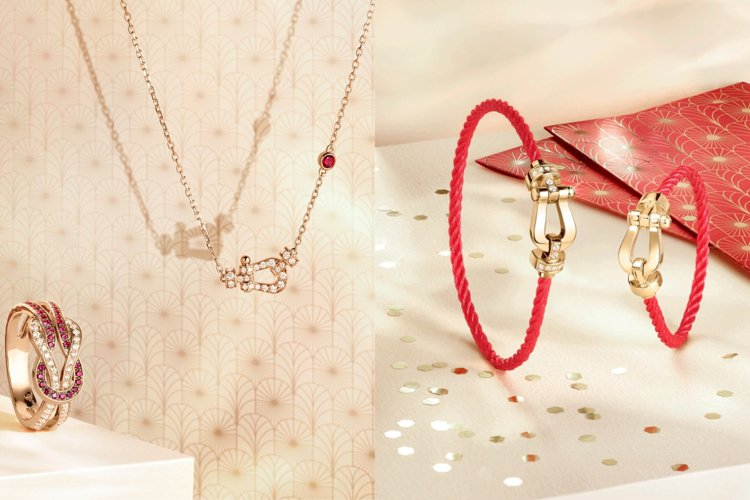 法國現代珠寶品牌斐登針對農曆新年推出一系列精選珠寶,充滿喜氣與節慶感的紅色為主視...