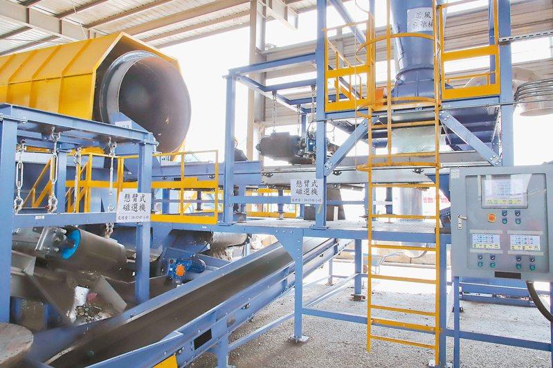 雲林引進全國首套ZWS零廢棄物系統,每天可處理150噸垃圾,廢料可轉化為燃料資源再利用,達到零廢目標。 記者蔡維斌/攝影