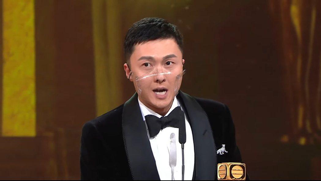 王浩信獲得TVB最佳男主角獎。 圖/擷自Youtube