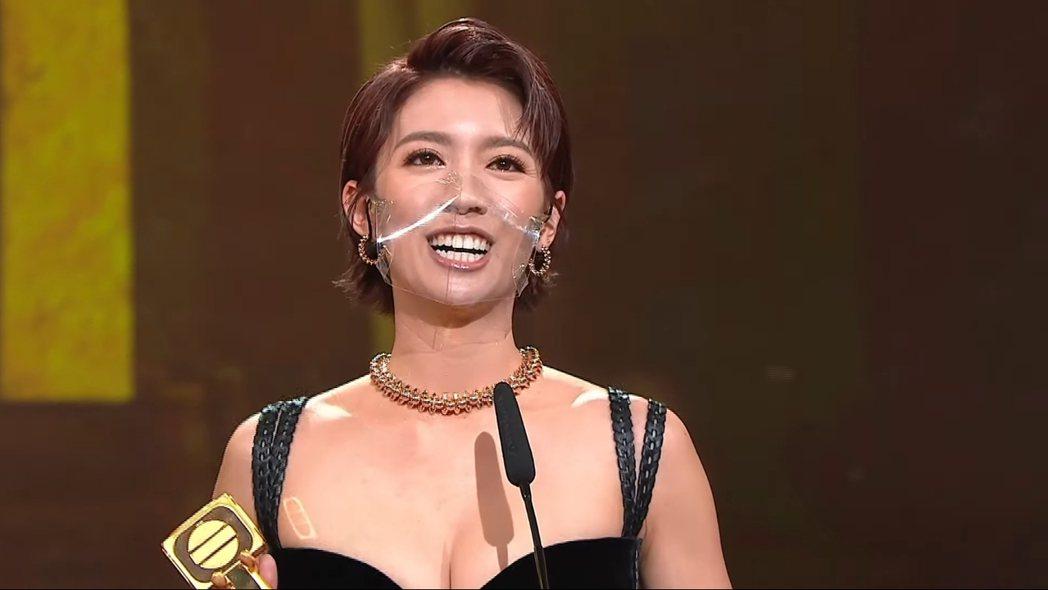 蔡思貝獲得TVB最佳女主角獎。 圖/擷自Youtube