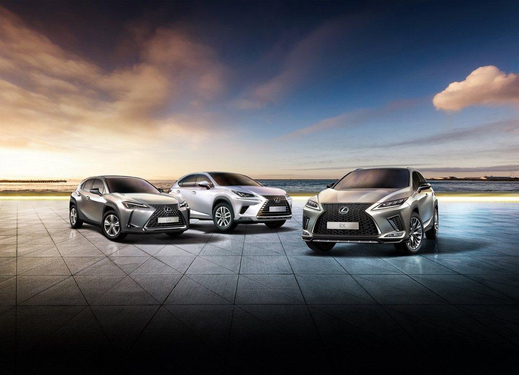 LEXUS在2020年靠著三台休旅車打天下,成功締造品牌歷史新高紀錄。 圖/和泰...