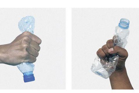Virgil Abloh為Evian設計首款由回收寶特瓶(rPET),製作的容器...