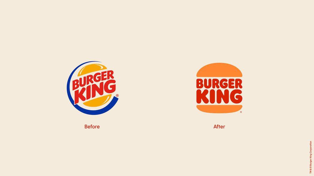 Burger King於2021年換上全新Logo。圖/摘自Burger Kin...