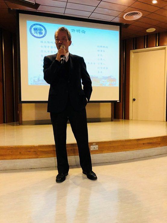 台灣高等檢察署主任檢察官朱兆民。 台灣長照醫學會/提供