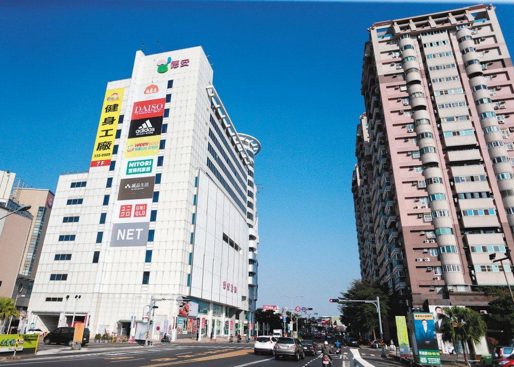 圖為台南東區街景。 聯合報系資料照片/記者劉學聖攝影