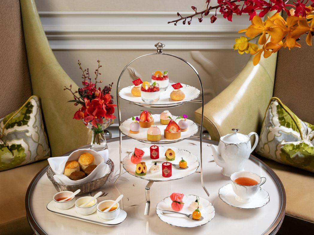青隅應景農曆新年推出「福源廣進」下午茶。 台北文華東方酒店/提供