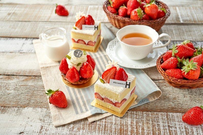草莓塔與草莓香堤香草蛋糕。 台北福華大飯店/提供
