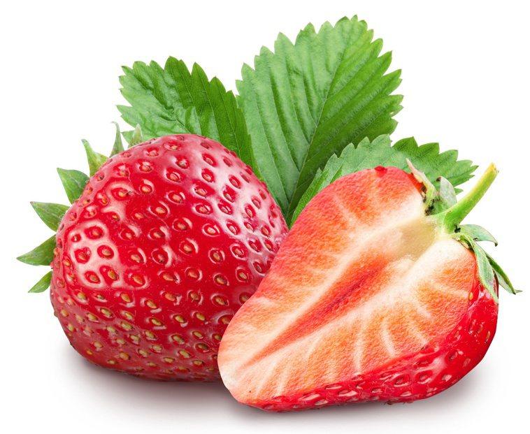 草莓維生素C含量極高,富含鞣花酸、阿魏酸等植化素,抗氧化力強。圖╱123RF
