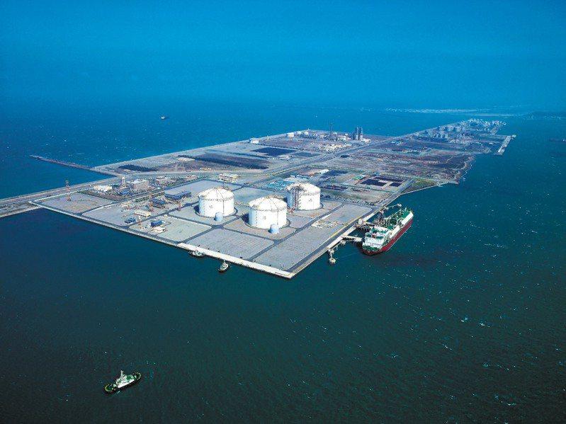 台中港液化天然氣廠。圖╱中油提供