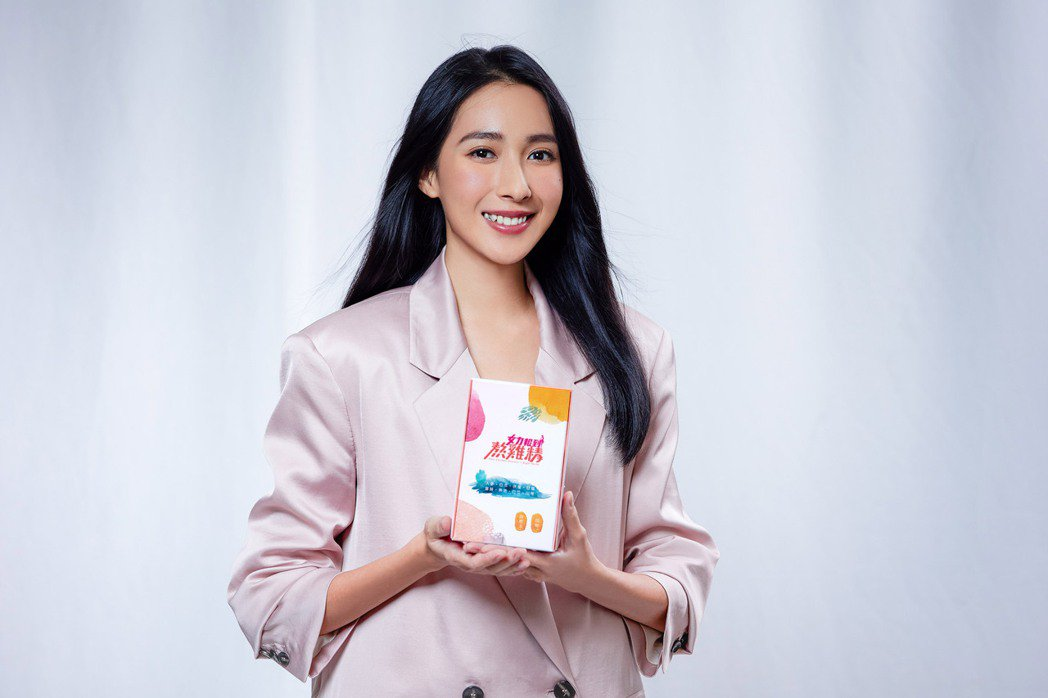楊晴為「女力報到熬雞精」擔任代言人。圖/TVBS提供