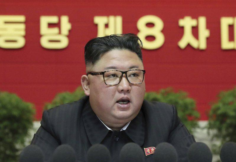 北韓勞動黨黨員代表大會還推舉金正恩為總書記。美聯社