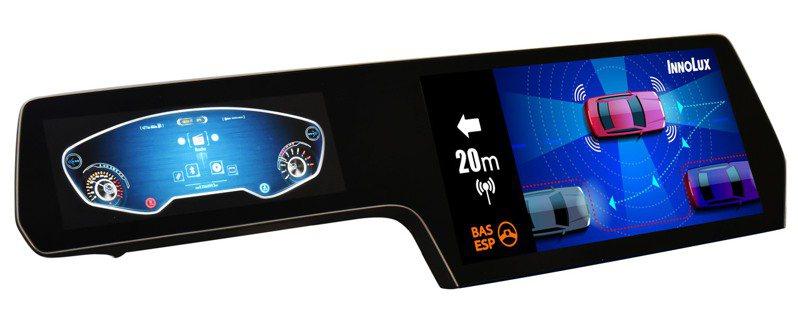 群創光電參展2021CES特於展出「智能異型車用顯示器」搶攻智慧車用領域。圖/群創提供