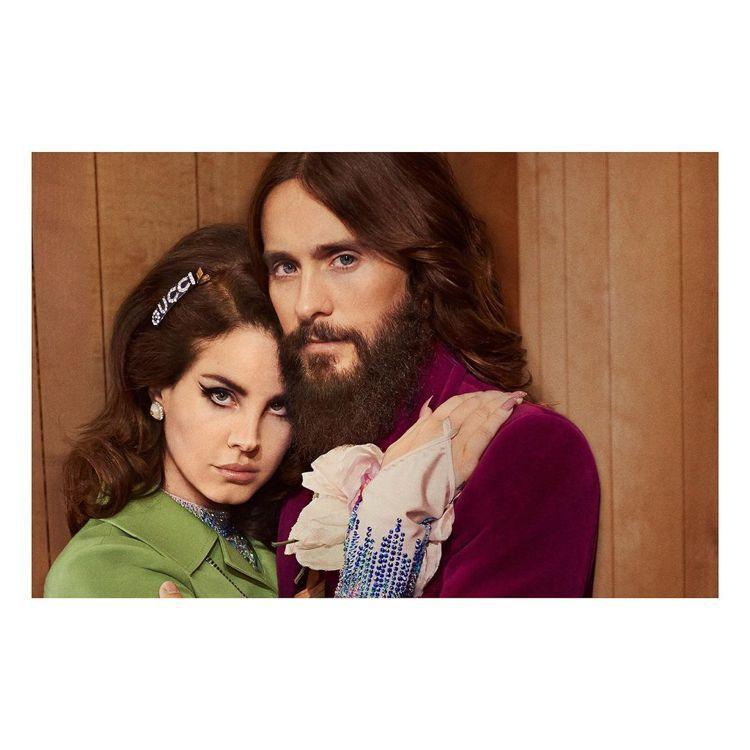 代言人Jared Leto和Lana Del Rey。圖/Gucci提供