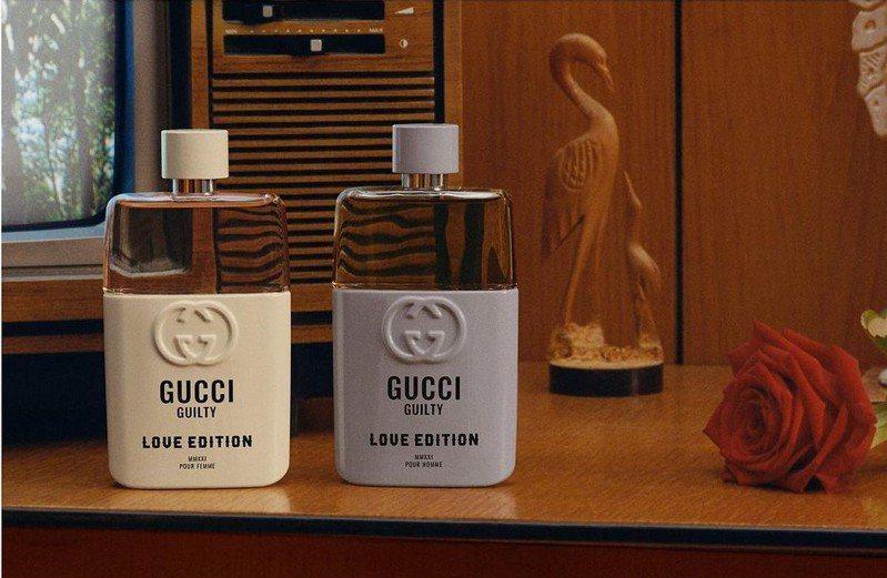 Gucci推出Love Edition「罪愛無畏情侶對香」,慶祝自由獨特和不落俗套的愛情。圖/Gucci提供