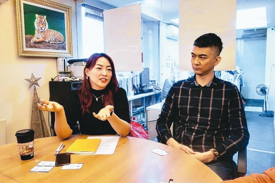 君邦經理劉芳芳(左)及產品工程師陳奕璋。君邦企業/提供